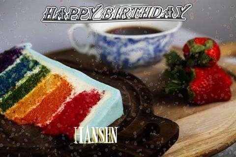 Happy Birthday Wishes for Hansen