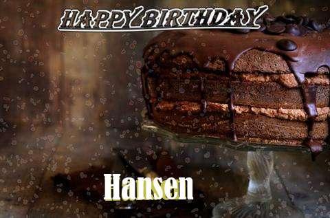 Happy Birthday Cake for Hansen