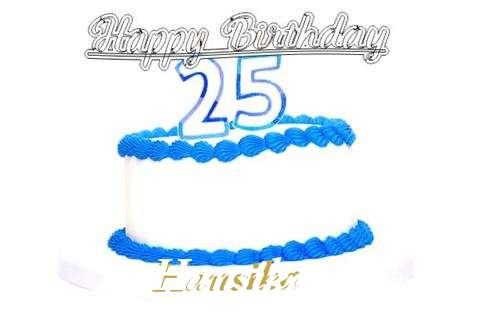 Happy Birthday Hansika Cake Image