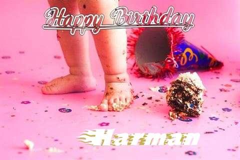 Happy Birthday Harman Cake Image