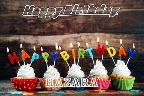 Happy Birthday Hazara Cake Image