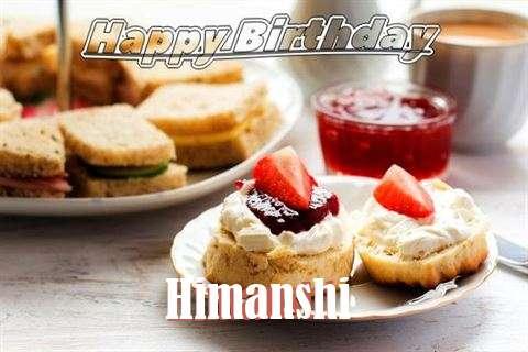 Happy Birthday Cake for Himanshi