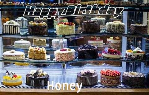 Happy Birthday Honey Cake Image