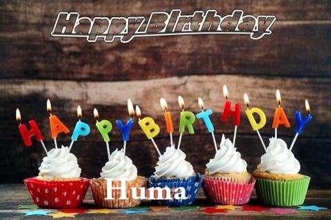 Happy Birthday Huma Cake Image