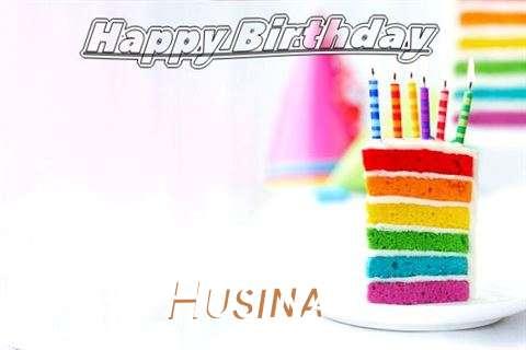 Happy Birthday Husina Cake Image
