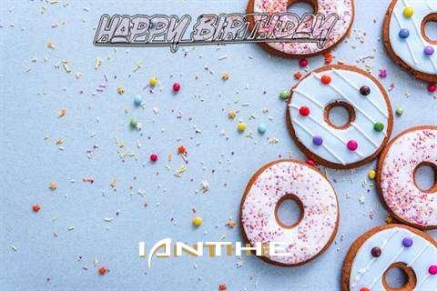Happy Birthday Ianthe Cake Image