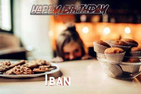 Happy Birthday Iban Cake Image