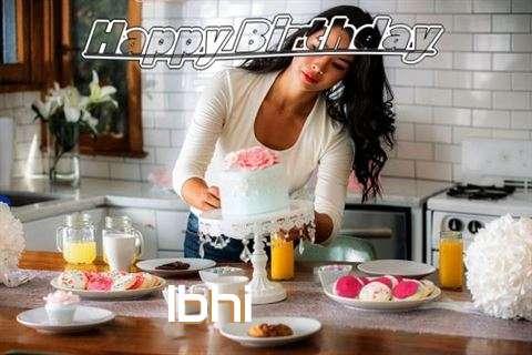 Happy Birthday Ibhi Cake Image