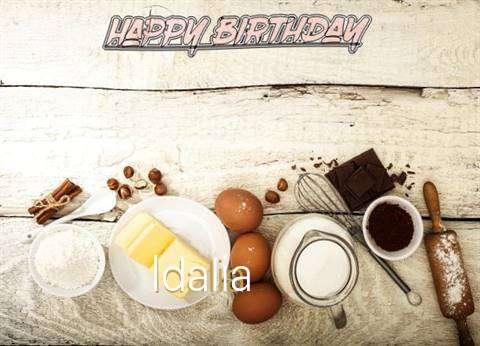Happy Birthday Idalia Cake Image