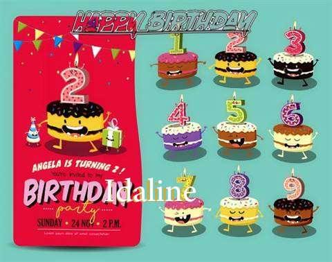 Happy Birthday Idaline Cake Image