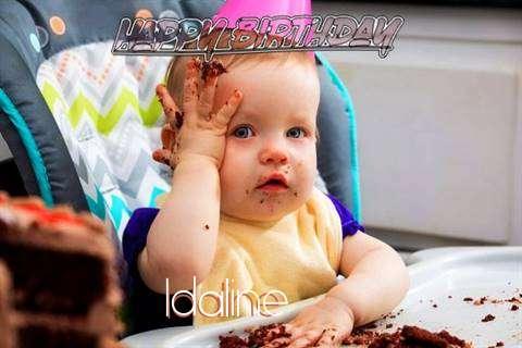 Happy Birthday Wishes for Idaline