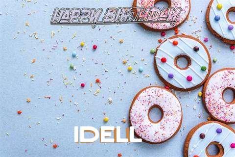 Happy Birthday Idell Cake Image