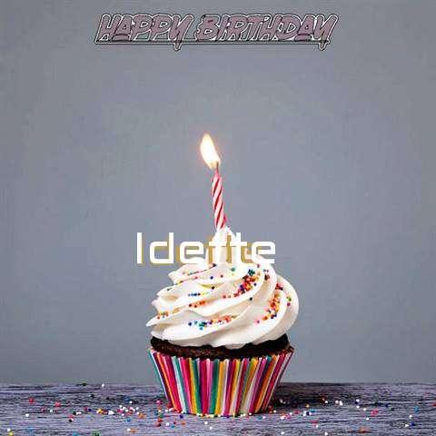 Happy Birthday to You Idette
