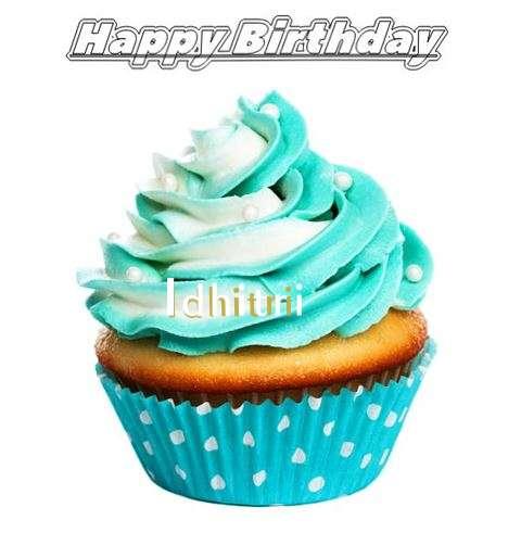 Happy Birthday Idhitri Cake Image