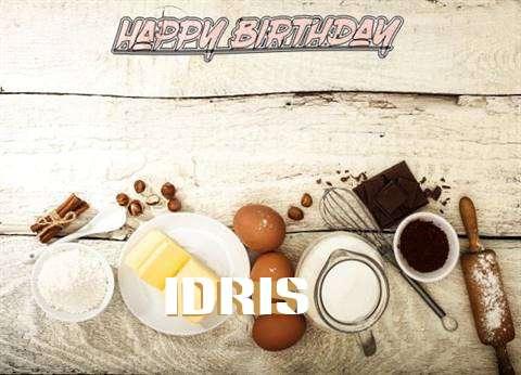 Happy Birthday Idris Cake Image