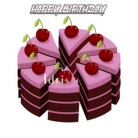 Happy Birthday Cake for Idris