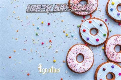 Happy Birthday Ignatius Cake Image