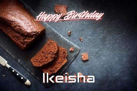 Happy Birthday Ikeisha Cake Image