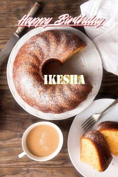 Happy Birthday Ikesha Cake Image