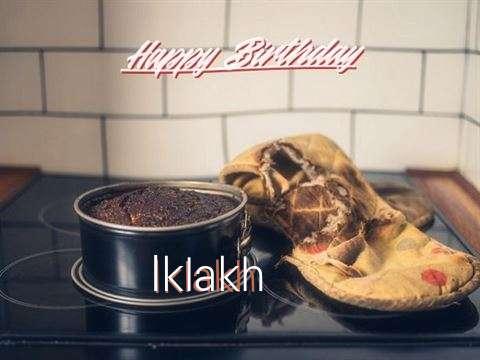 Happy Birthday Iklakh Cake Image