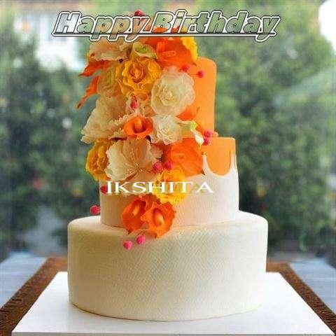 Happy Birthday Cake for Ikshita