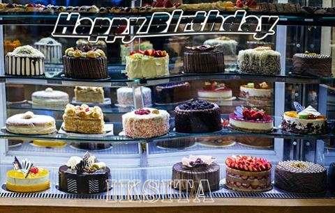 Happy Birthday Iksita Cake Image