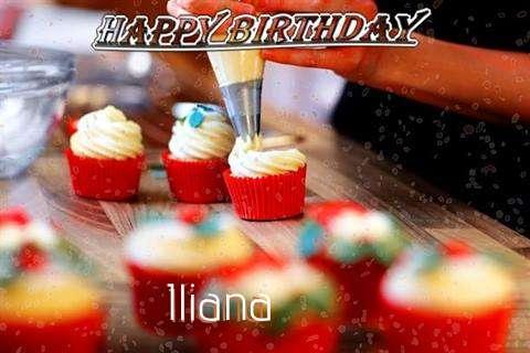 Happy Birthday Iliana Cake Image