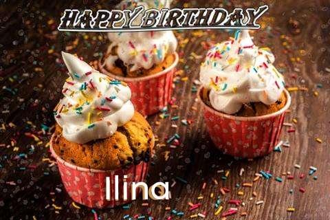 Happy Birthday Ilina Cake Image