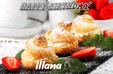 Happy Birthday Illana Cake Image