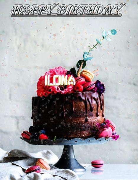 Happy Birthday Ilona Cake Image