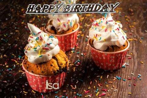 Happy Birthday Ilsa Cake Image