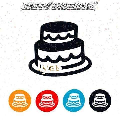 Happy Birthday Ilyas Cake Image