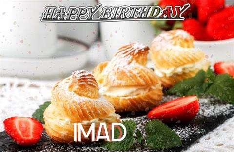 Happy Birthday Imad Cake Image