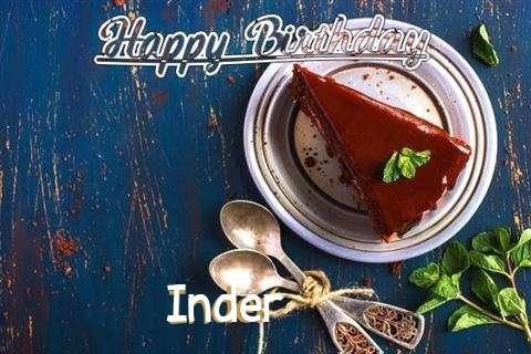 Happy Birthday Inder Cake Image