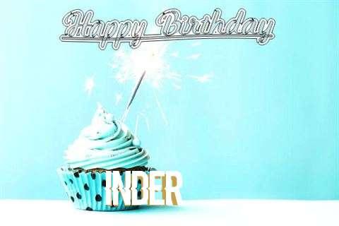 Happy Birthday Cake for Inder