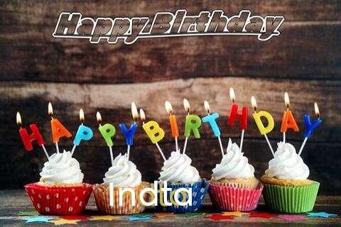Happy Birthday Indta Cake Image