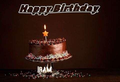 Happy Birthday Cake for Iram