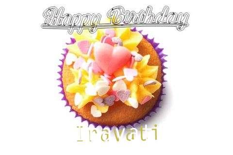 Happy Birthday Iravati Cake Image