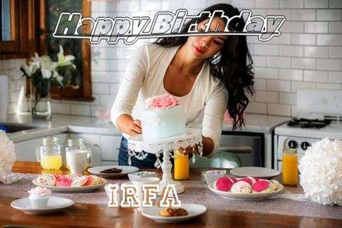 Happy Birthday Irfa Cake Image