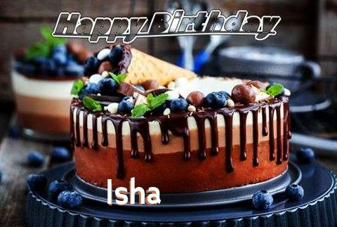 Happy Birthday Cake for Isha