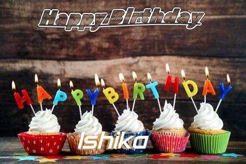 Happy Birthday Ishika Cake Image