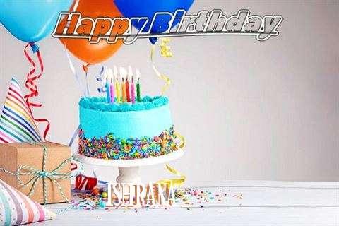 Happy Birthday Ishrana Cake Image