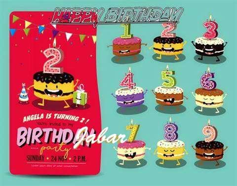 Happy Birthday Jabar Cake Image