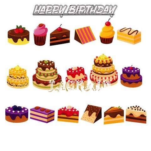 Happy Birthday Jacklin Cake Image