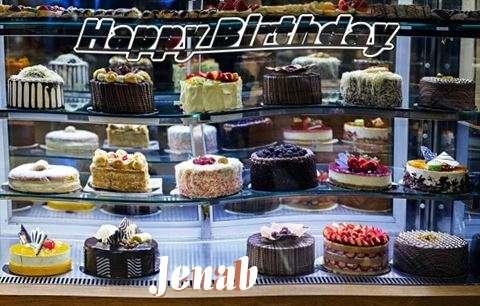 Happy Birthday Jenab Cake Image