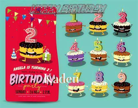 Happy Birthday Kaden Cake Image