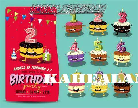 Happy Birthday Kahealani Cake Image