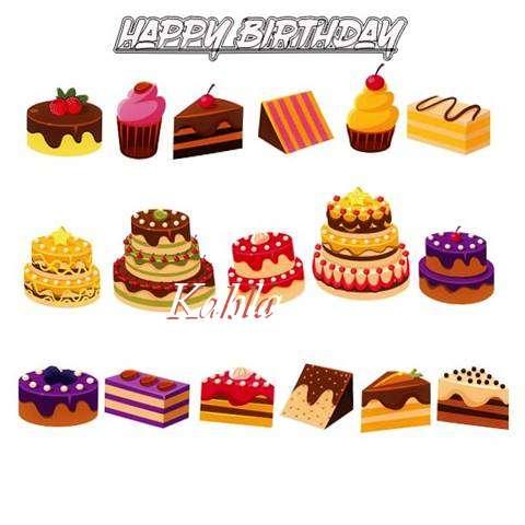 Happy Birthday Kahla Cake Image