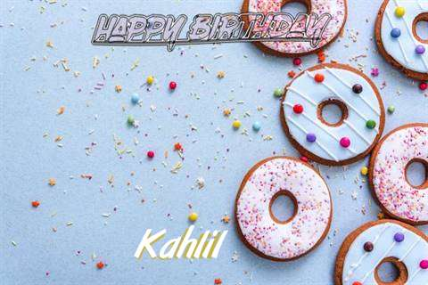 Happy Birthday Kahlil Cake Image