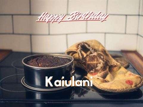 Happy Birthday Kaiulani Cake Image
